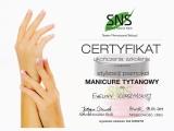Certyfikat - tytanowy manicure